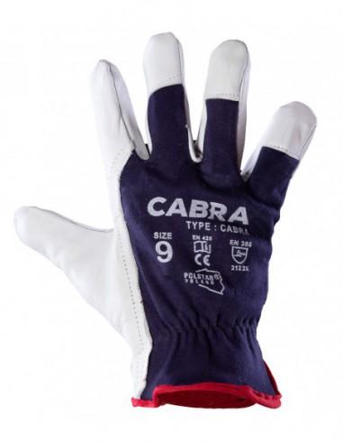 Rękawice robocze skórzane Cabra