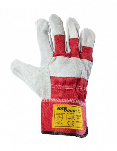 Rękawice robocze skórzane Haddock R1...